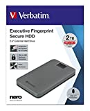 Verbatim Executive Fingerprint Secure HDD - 2 TB -...